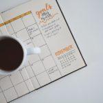een agenda met een weekplanning en een maandplanning